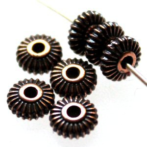 TierraCast® rondelli Crown 5 mm antiikkikupari