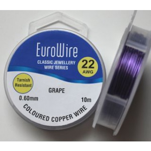 EuroWire kuparilanka 0,6 mm tummumaton grape 10 m puola