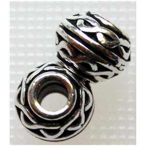 TierraCast® rondelli Celtic 8x6 mm antiikkihopea