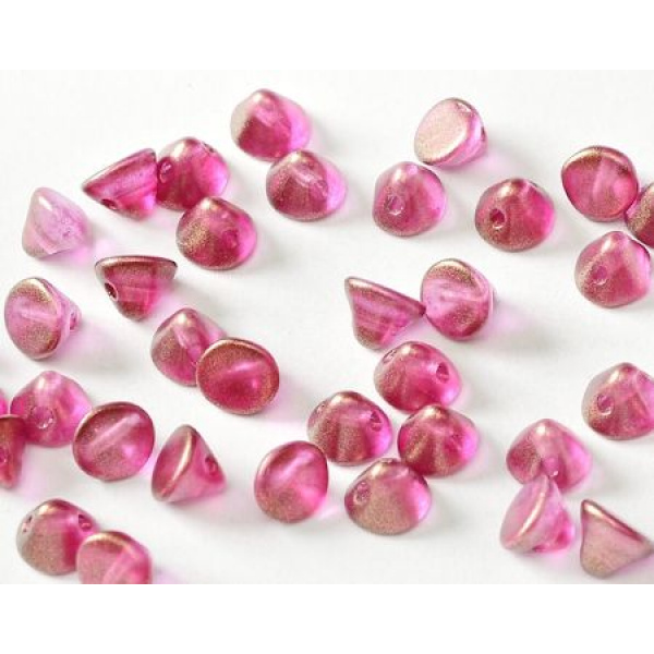 Button bead® lasihelmi 4 mm halo french rose 20 kpl