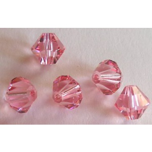 Swarovski bicone 6 mm Light Rose