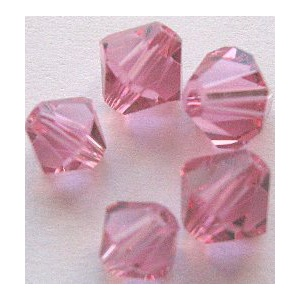 Swarovski bicone 6 mm Rose