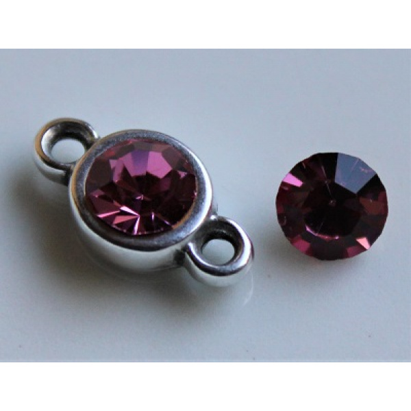 Preciosa chaton SS29 (6,2 mm) Rose 2 kpl