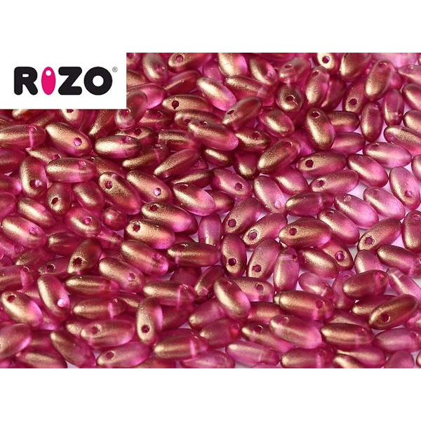 Rizo lasihelmi 2,5x6 mm halo french rose 10 g